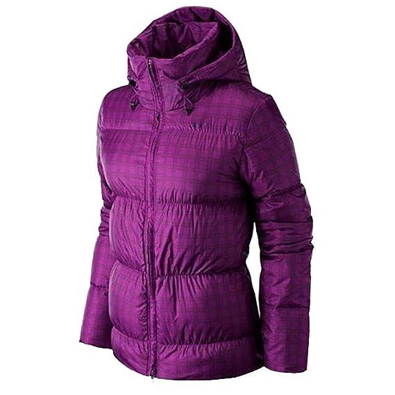Nike Women s Padded Down Jacket - Pure Purple Black  Amazon.co.uk ... 148543ef8