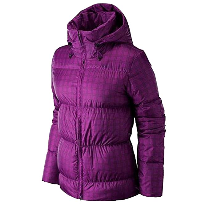 c1c273c77a961 Nike Women's Padded Down Jacket - Pure Purple/Black: Amazon.co.uk ...