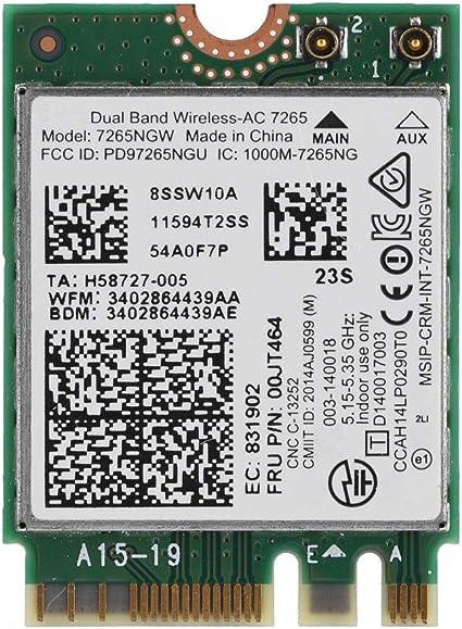 Amazon.com: ASHATA Tarjeta WiFi, para Intel Wireless-AC 7265 ...