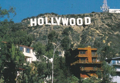 Express Hillside - LA239 HOLLYWOOD CALIFORNIA POSTCARD LA239 - - from Hibiscus Express