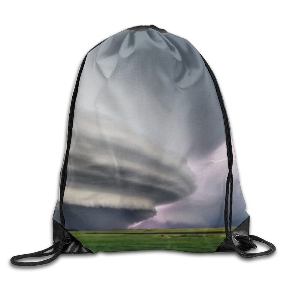 Amazon.com: Thunderstorm Drawstring Sports Backpack School ...