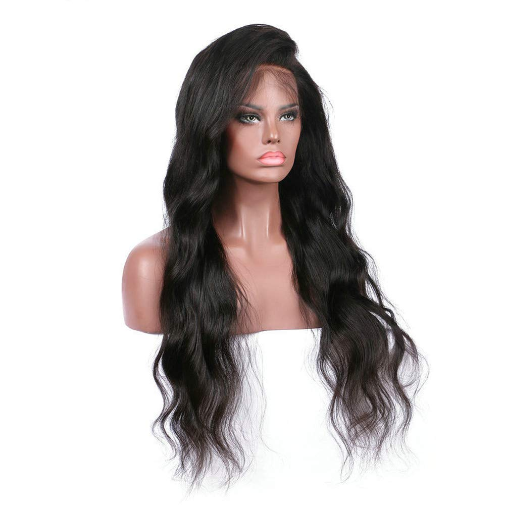 Best Gifts!!! 2019 Lace Front Long Curly Wigs for Women Gradient Brown Heat Resistant Fiber Wig for Cosplay,Party&Daily Use Costume Wig