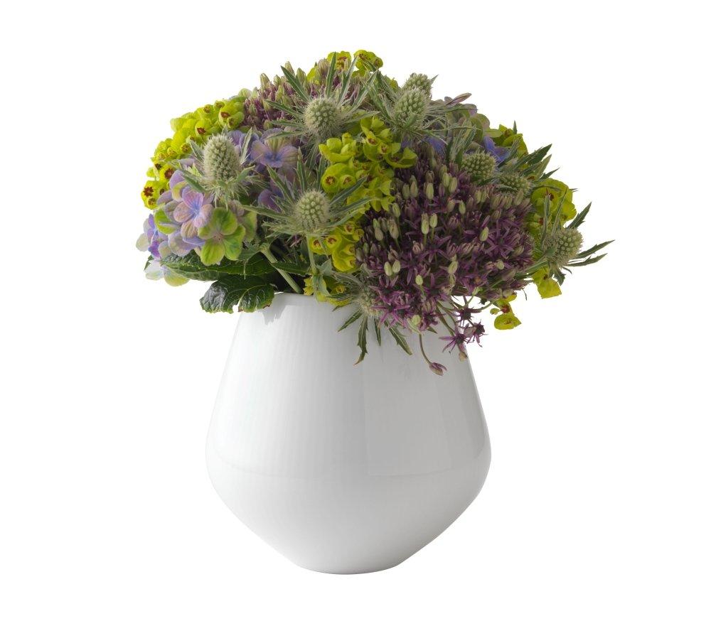 Royal Copenhagen White Fluted Plain Vase, 6'' by Royal Copenhagen (Image #2)