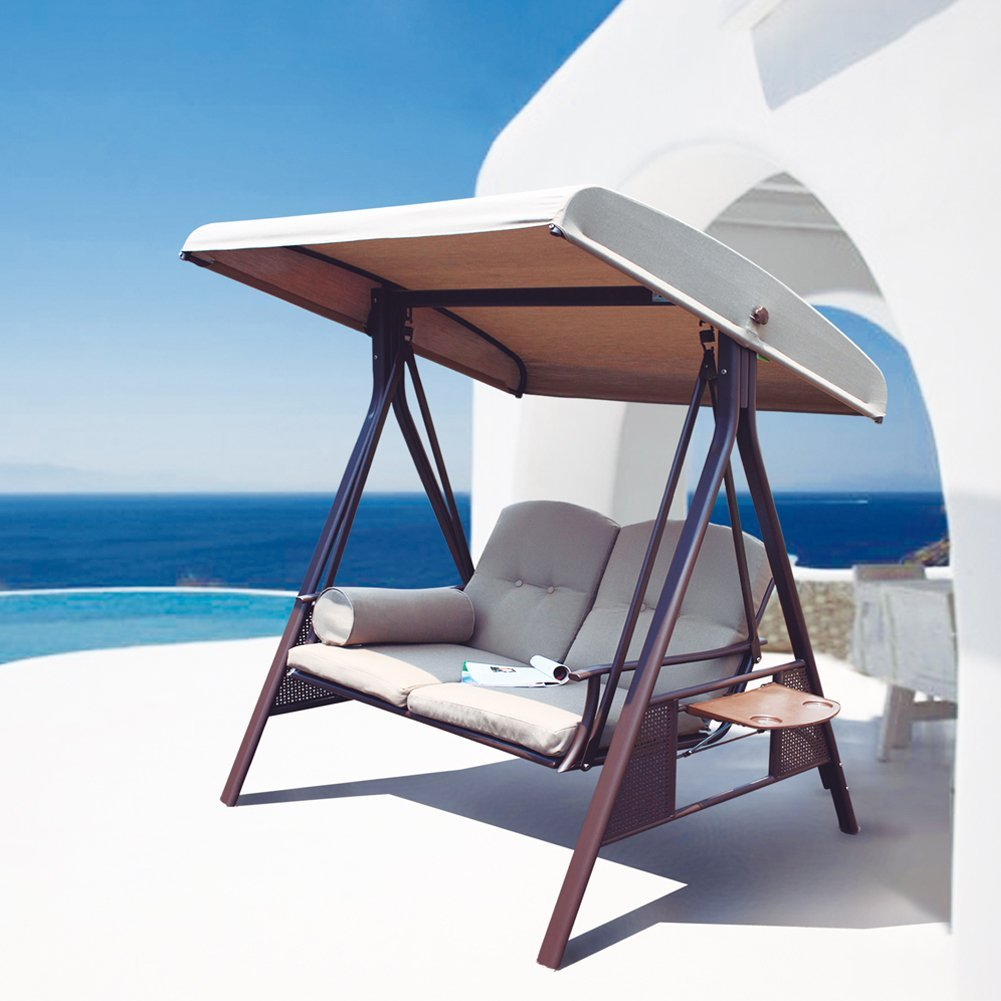 A 2-person patio swing that will make backyard date nights cozier Weird but actually smart Christmas gifts for guys - Todaywedate.com
