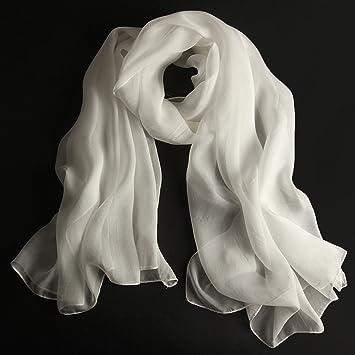 Châles MEIDUO Femme Foulard en soie 100% soie printemps et d hiver hiver  Foulards d93234a3d0a