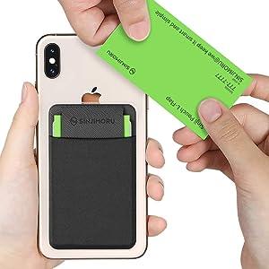 Sinjimoru Business Card Holder for Back of Phone