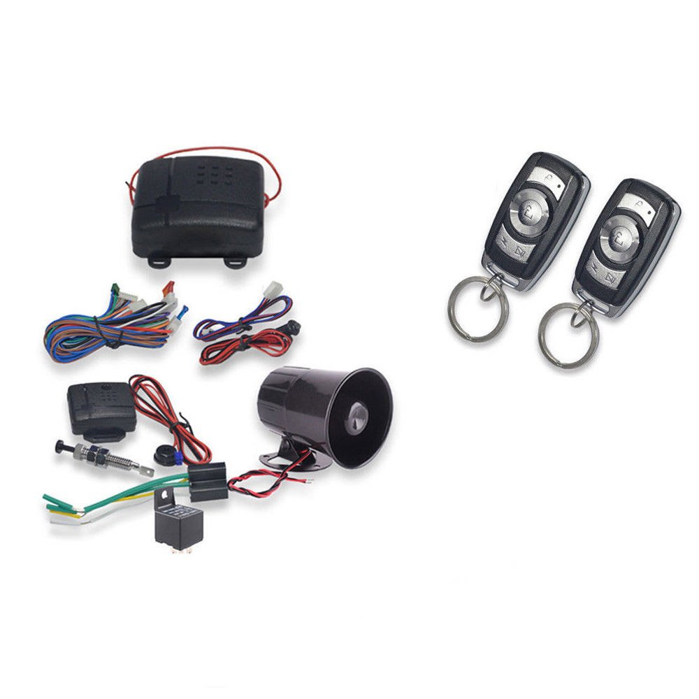 DealsPlaza 1-Way Car Vehicle Burglar Alarm System Keyless Entry Security System w/2 Remote Control G2 by DealsPlaza