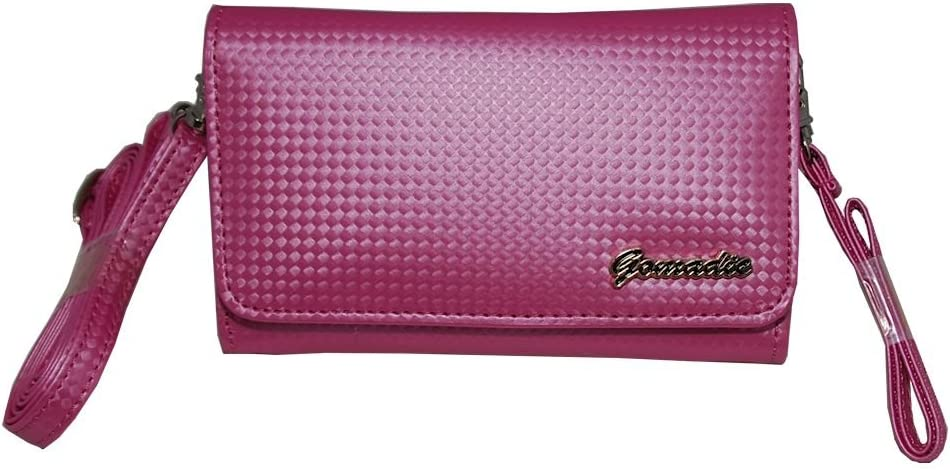 Small and Stylish Women Pink Purse Handbag Case for Canon devices with both Hand Shoulder Strap