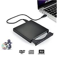 Graveur DVD Externe, iAmotus DVD/CD Lecteur Portable USB 2.0 CD DVD +/-RW ROM Player Compatible Windows XP/7/8/10/Vista/Linux, Mac OS pour Ordinateurs de Bureau/Portable Apple MacBook Air/Pro -Noir