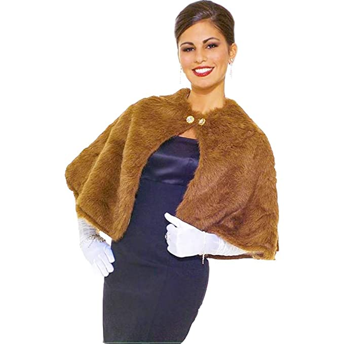 1930s Costumes- Bride of Frankenstein, Betty Boop, Olive Oyl, Bonnie & Clyde Forum Novelties Womens Faux Mink Stole $24.48 AT vintagedancer.com