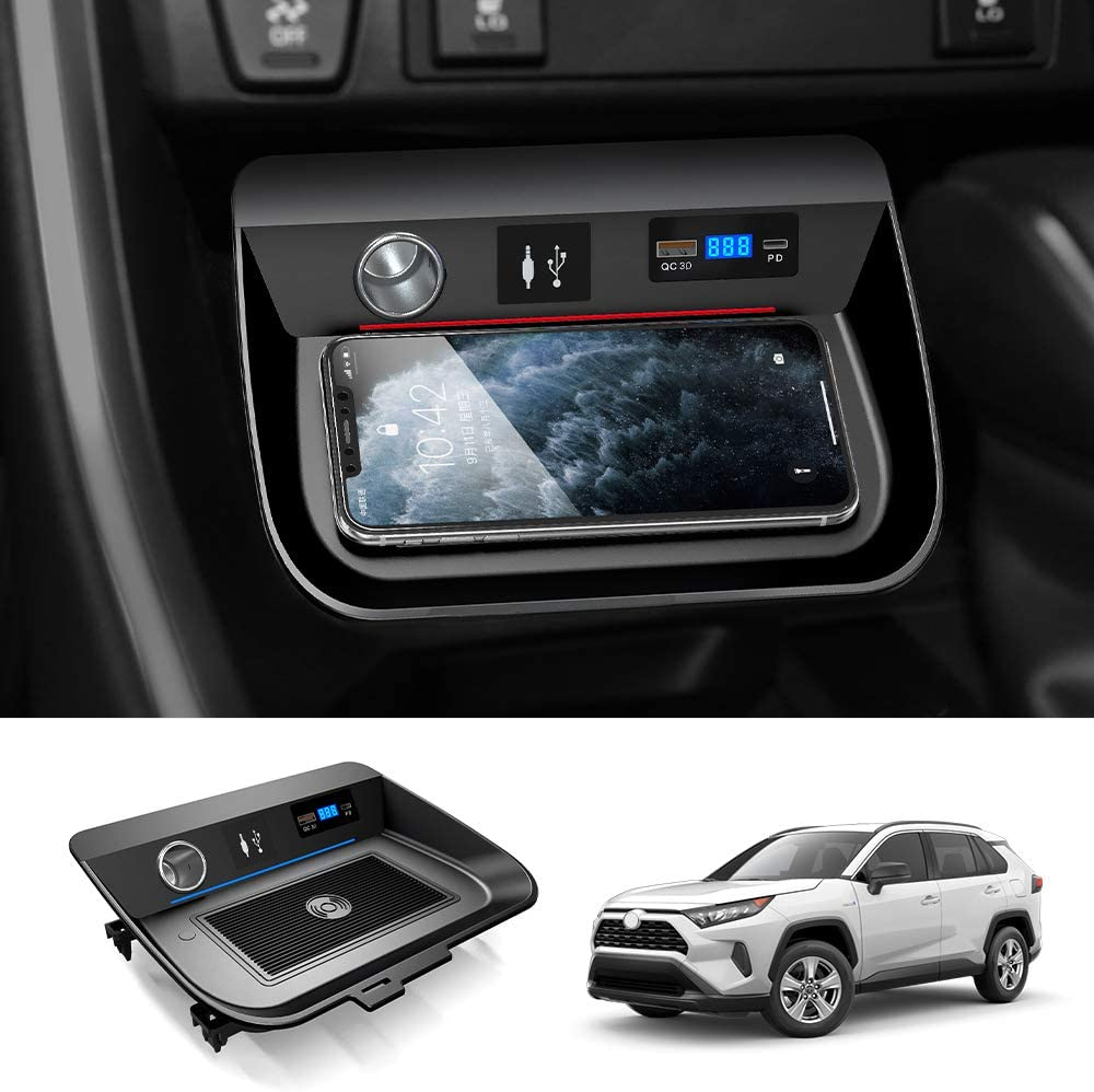 Best Wireless Car Charger 2021 Amazon.com: Mixsuper Wireless Car Charger Fit for Toyota RAV4 2019