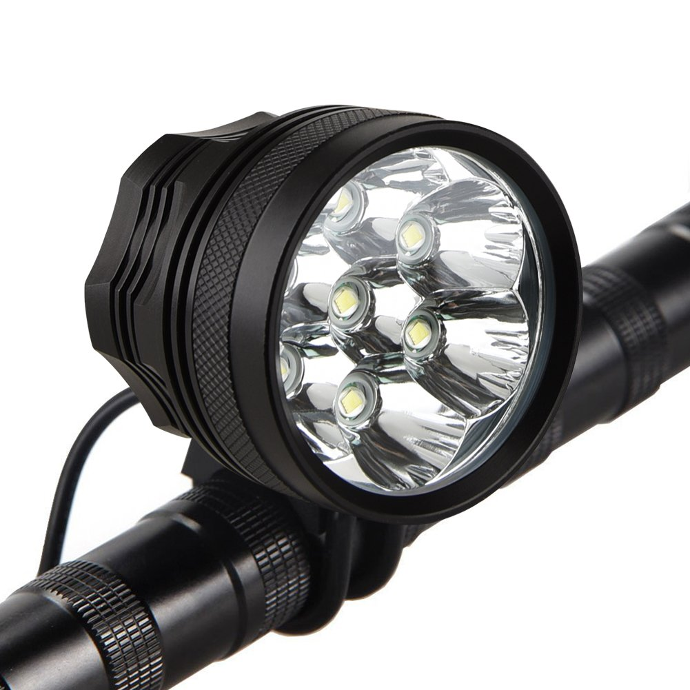 Weihao Bicycle Headlight, 10500 Lumens 7 LED Bike Light
