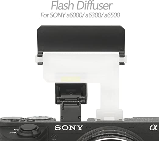Mcoplus DF6500/Multicolor 4/en 1/Difusor de flash Mini Flash rebote port/átil suave luz de trabajo para A6500/A6300/A6000/Sony c/ámara