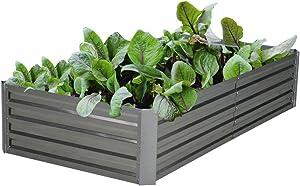 Galvanized Steel Raised Garden Bed Kit Extra Height Elevated Planter Box Steel Large Vegetable Flower Bed Kit (3FT x 6FT x 1.3FT)