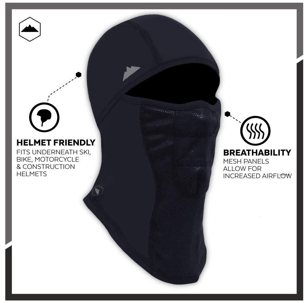 fde7b24a650 Amazon.com  Tough Headwear Balaclava - Windproof Ski Mask - Cold Weather  Face Mask for Skiing
