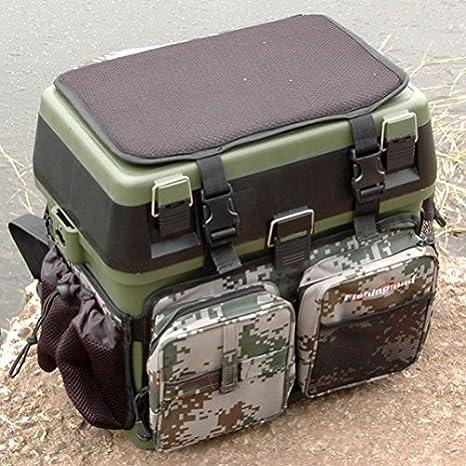 Asiento de pesca caja mochila convertervarillas de pesca