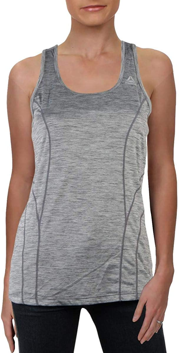 Reebok Women's Running & Workout Tank Top - Dynamic Fitted Performance Racerback Active Gym Shirt: Clothing