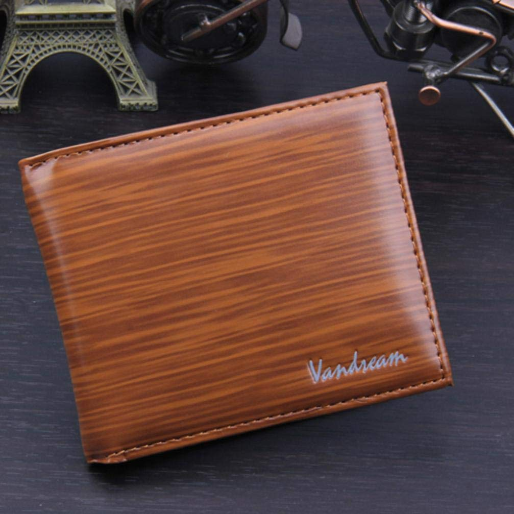 Leather Men's Short Wallet Fashion Bifold Mens Casual Wallet Solid Wallets With Pocket Coin Wallets by Bookear (Image #2)