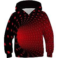 TUONROAD Hoodie Niño Funny 3D Sudaderas con Capucha Unisex Sweatshirt Niña Manga Larga Sweater Hoody