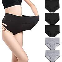 wirarpa Damen Unterhosen Baumwolle Slip High Waist Taillenslip Wochenbett Unterwäsche Kaiserschnitt Unterhose Mehrpack Größen 32-58