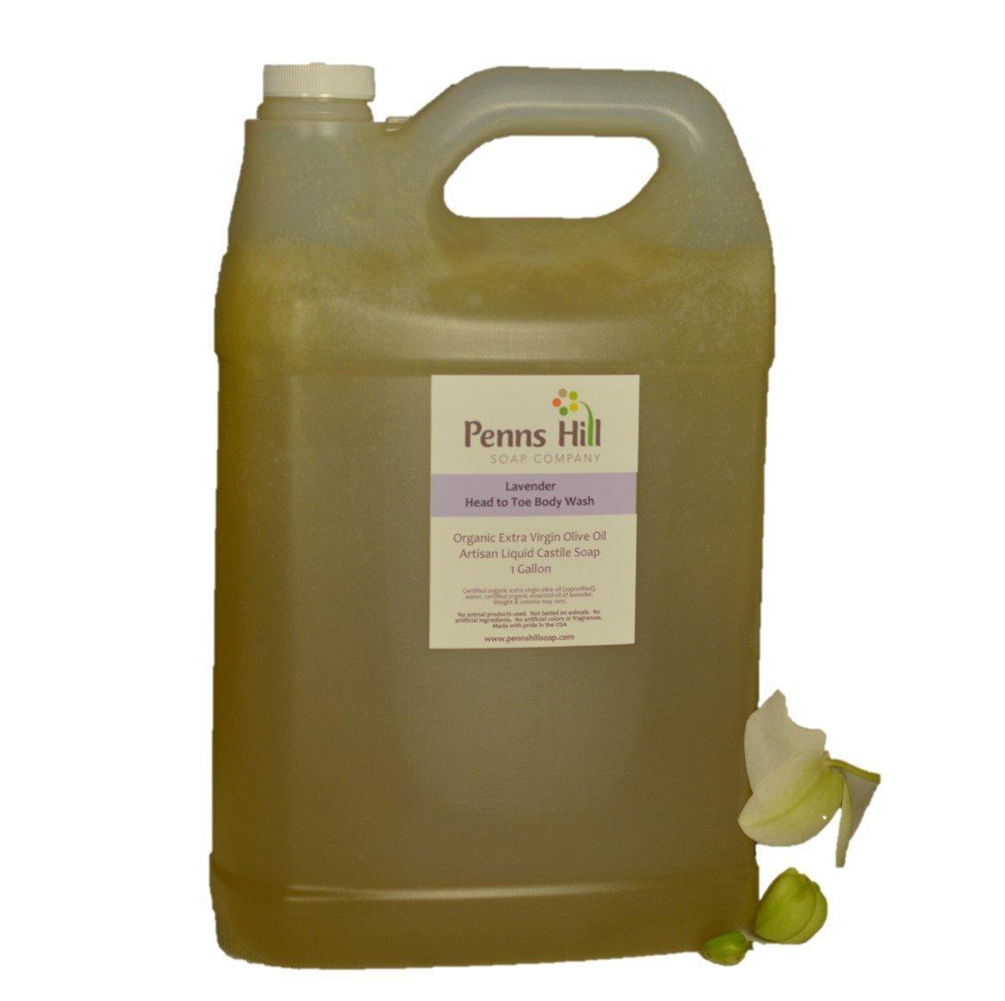 Organic Liquid Olive Oil Castile Soap (Lavender) - Gallon