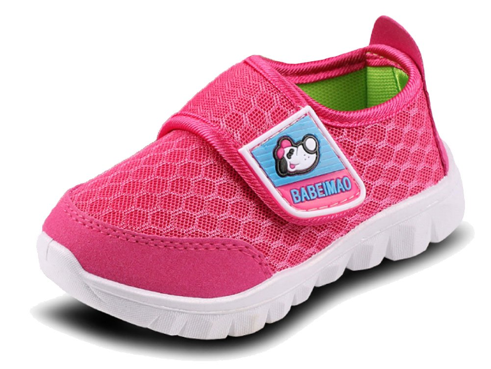 iDuoDuo Kids Mesh Baby Sneakers Super Light Weight Running Shoes Peach 1 3.5 M US Toddler