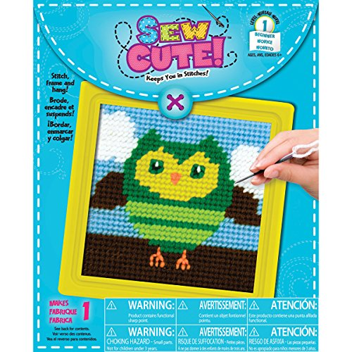 Colorbok Owl Learn to Sew Needlepoint Kit, 6
