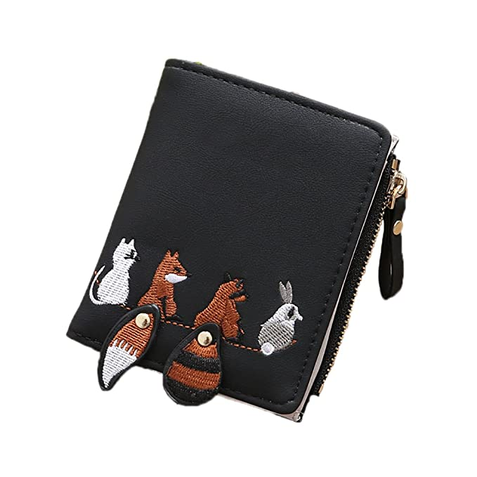 Amazon.com: STARLIT bordado de Animal mujer cartera titular ...