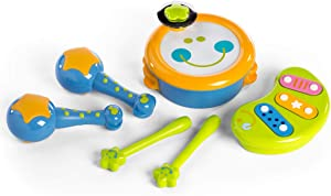 ISEE Baby Toys, Toddler Learning Musical Instruments, Preschool Musical Toys for Toddlers 1-3, Children's Educational Drums & Percussion for 18-36 Months Baby Boys Girls
