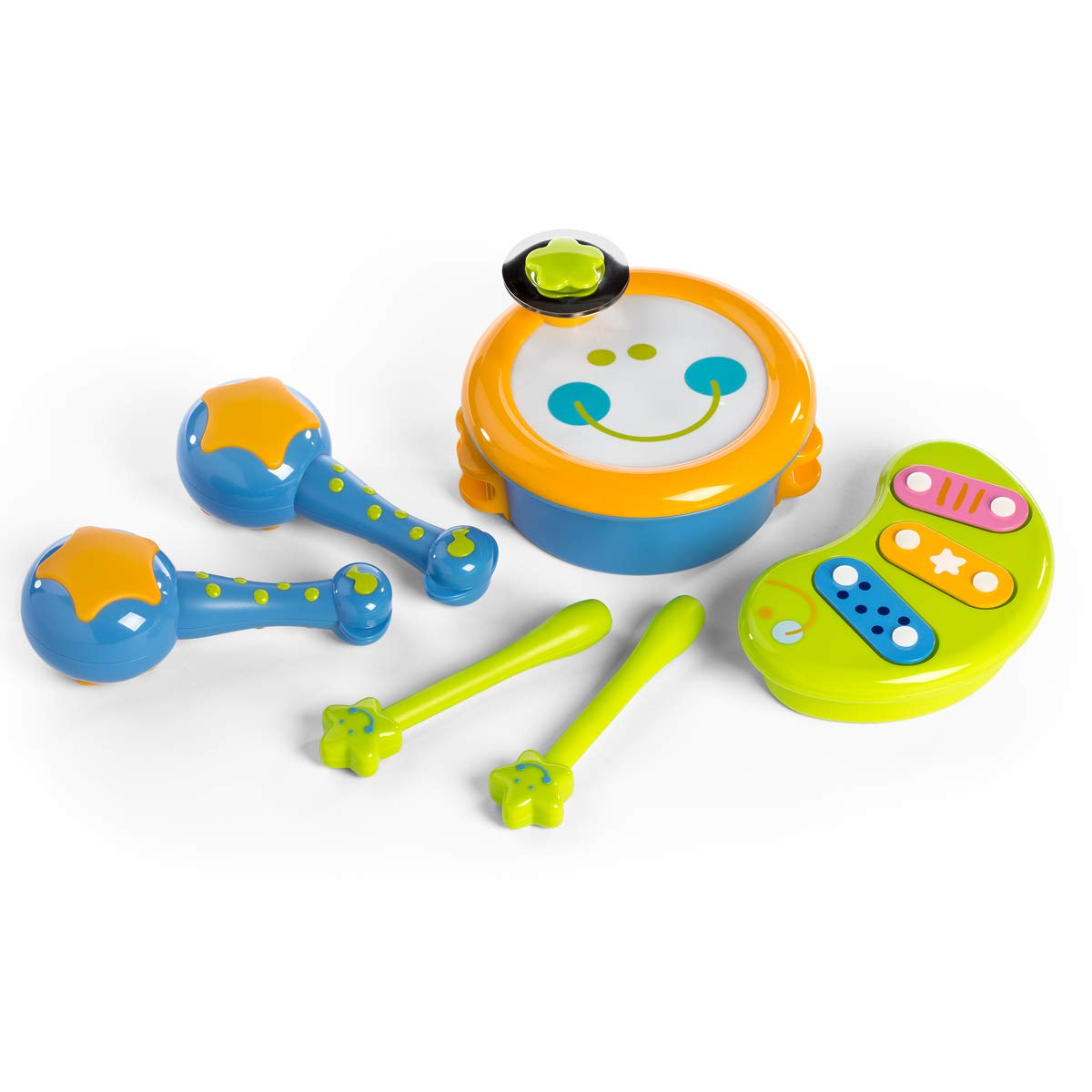 ISEE Baby Toys 6 to 12 Months | Musical Toys for Toddlers 1-3 | Infant Toys 12-18 Months | Learning Toys for 2 Year olds | Baby Musical Toys | 2 Rattle Toys for 1 Year Old | Kids Toys Age 1 by ISEE