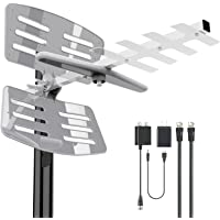 [Latest 2020] Amplified Outdoor TV Antenna- 175Miles HDTV Outdoor Antenna with Pole Mount 2 Signals Distribution for…