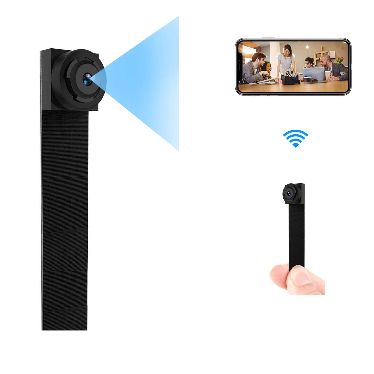 Cam Mall WiFi Camera, Nanny Cam Wireless Security Camera Motion Detection Remote View for iPhone/Android Device Home Surveillance Video Recorder (Black)