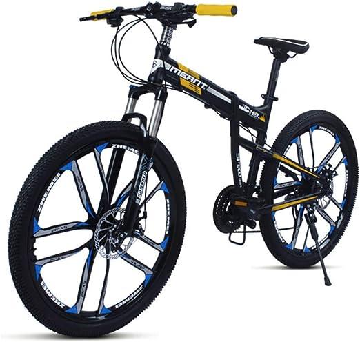 Bicicleta de montaña en negro / azul, cuadro de aleación de ...