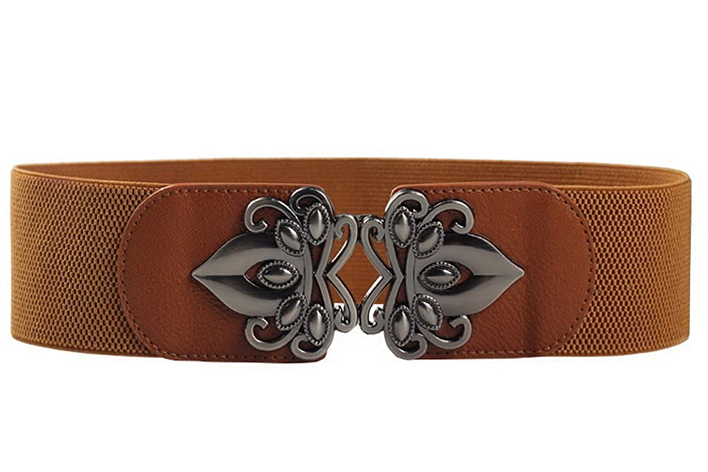 Foucome Womens Retro Stretch Elasticated Waist Belt Vintage Cinch Belt