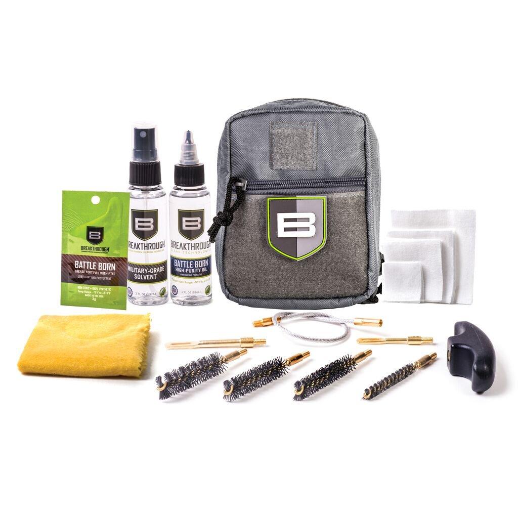 Breakthrough Clean Technologies QWIC-P Pistol Pull Through Cleaning Kit - Gray by Break Through