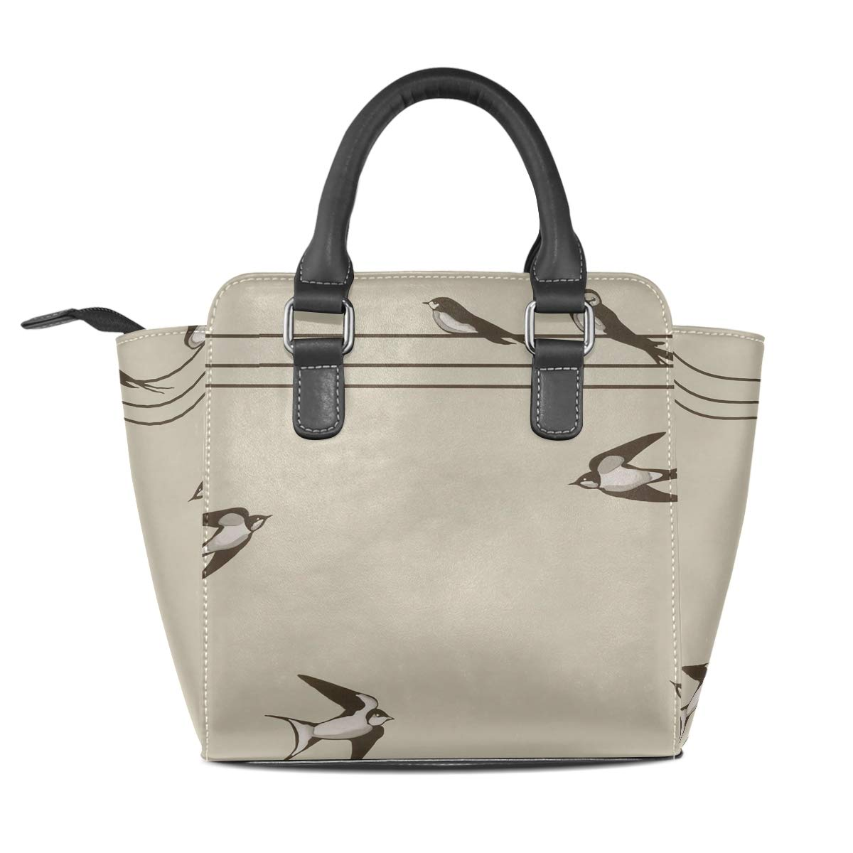 Bird Tree Art Leather Handbags Purses Shoulder Tote Satchel Bags Womens