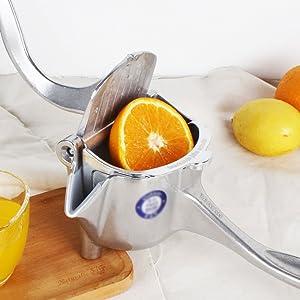 HTYX Manual Machinery Healthy Juicer Using Cold Pressing Process Hand-Orange Juicer Kitchen or Dining Room Lemon Pomegranate Orange Juice