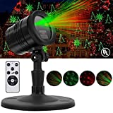 Christmas Laser Lights, Waterproof Star Shower Projector Lights with RF Wireless  for Christmas, Party, Landscape and Garden Decorations