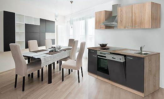 respekta Instalación de Cocina Cocina vitrocerámica 220 cm ...