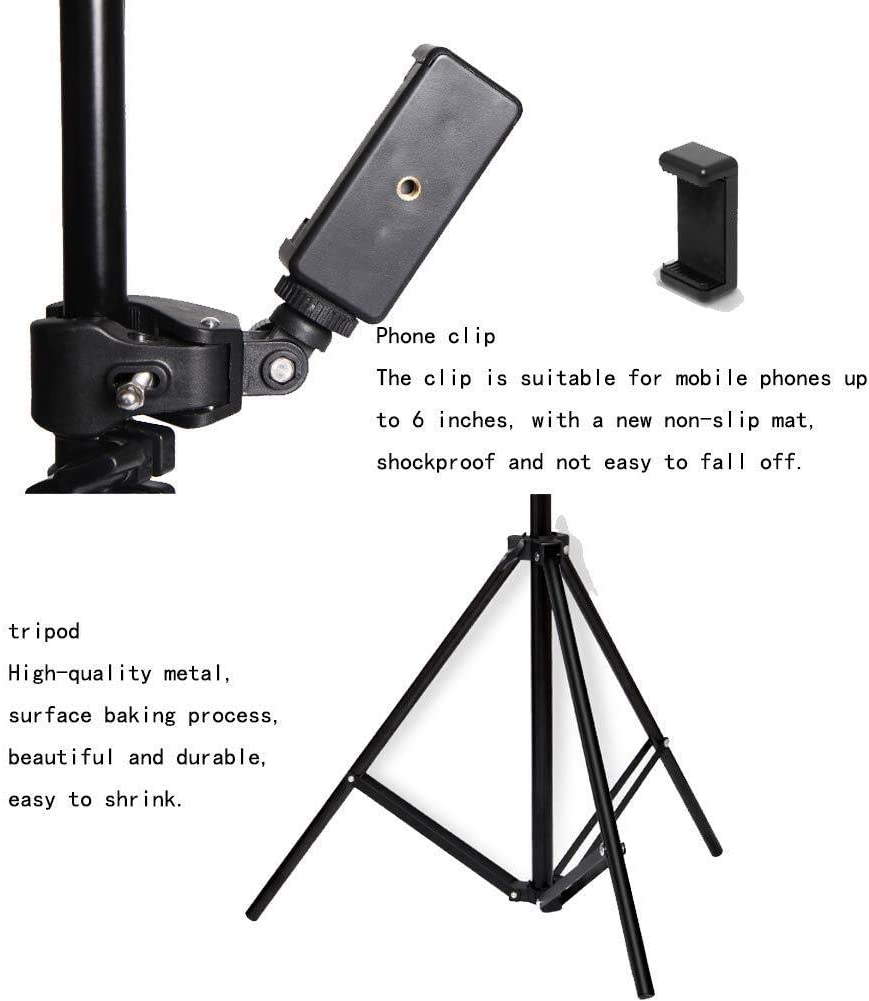 Ring Light Mobile Phone Live Bracket Tripod Outdoor Shooting Desktop Self-Timer Floor Multi-Function Fill Light Makeup Beauty Soft Light Led Self-Timer Skin Care Thin Face Photography Dimmable 0110