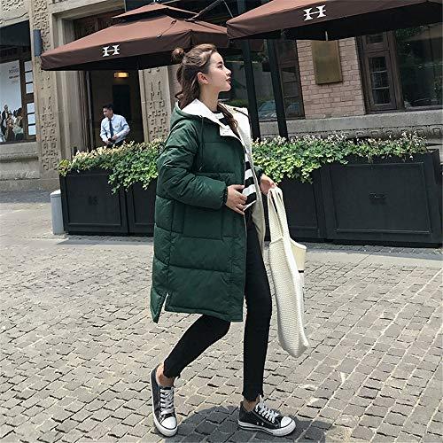 Con giacca Spessi Slim Donna Morwind Calda Capispalla Caldo Giacca Imbottita In Trapuntata Da Gilet Cotone Green Cappuccio Invernale Lungo Elegante qBqxw7Tg