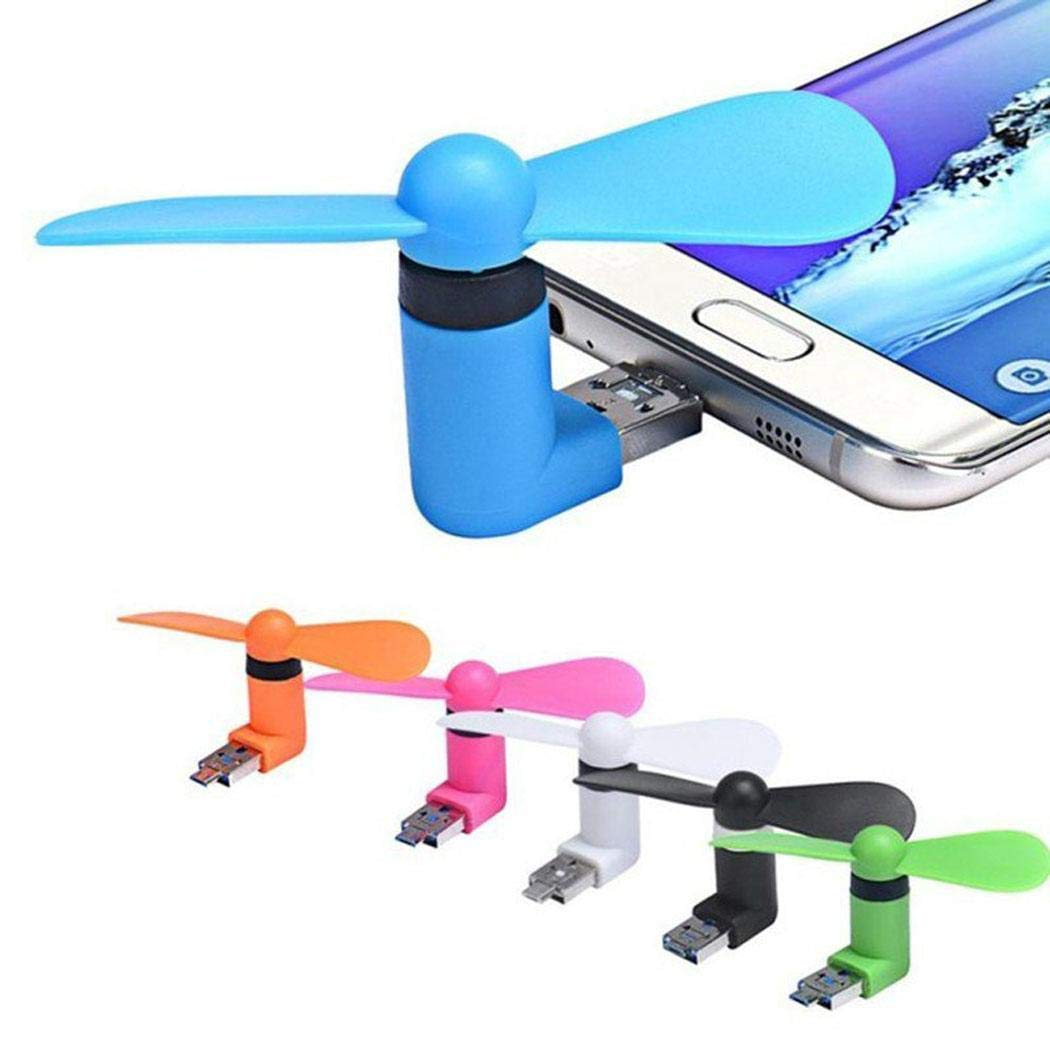 Sliwei Ventilatore di Raffreddamento Portatile per Mini telefoni Portatili,Android//USB//Type-C