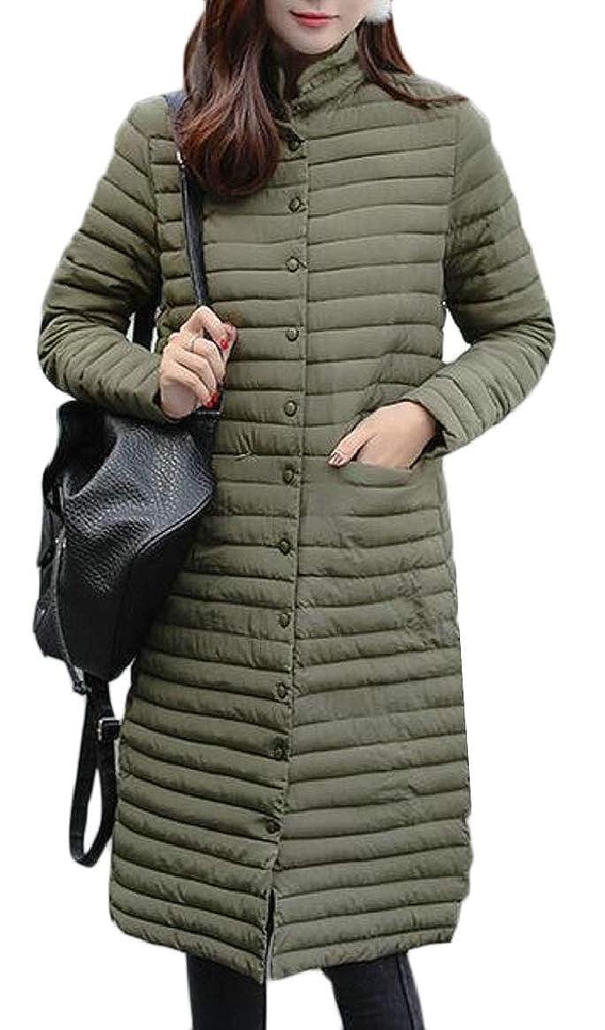 2 pujinggeCA Womens Slim Light Weight Long Puffer Down Parka Jacket