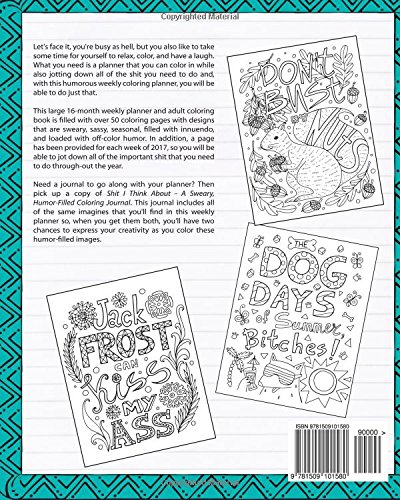 Counting Number worksheets math addition coloring worksheets : Shit I Need to Do: A Sweary, Humor-Filled Weekly Coloring Planner ...