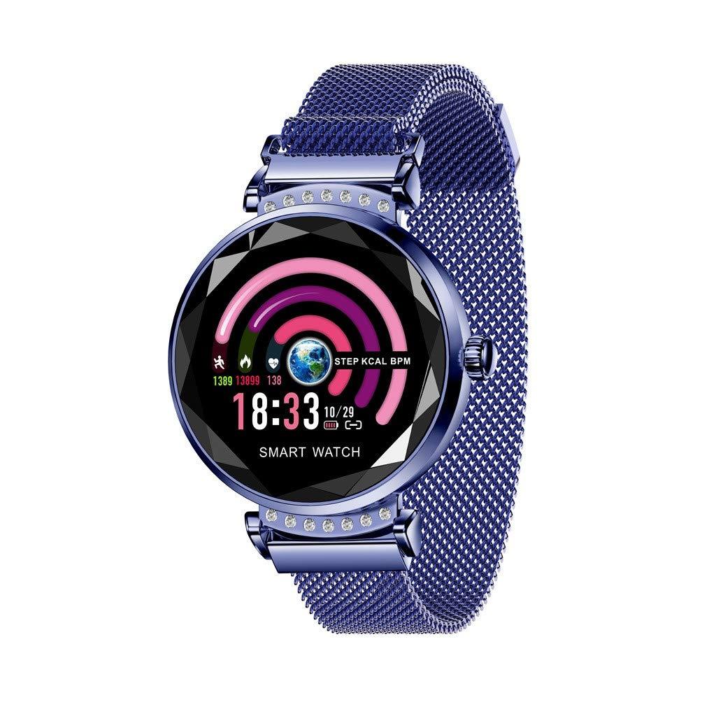 GXOK H2 Smart Watch for Women,Valentine's Day Gift,Blood Pressure Sport Smart Bracelet Watch Pedometer (Dark Blue) by GXOK