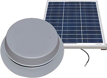 Florida Rated with 25-Year Warranty Solar Attic Fan 24-watt Black