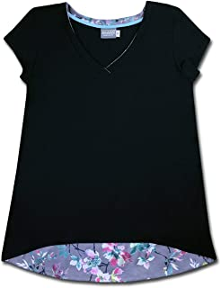 product image for Majamas Nuovo Top - Women's eco-Friendly Ethically Made Short Sleeve v-Neck tee Shirt - Made in The USA