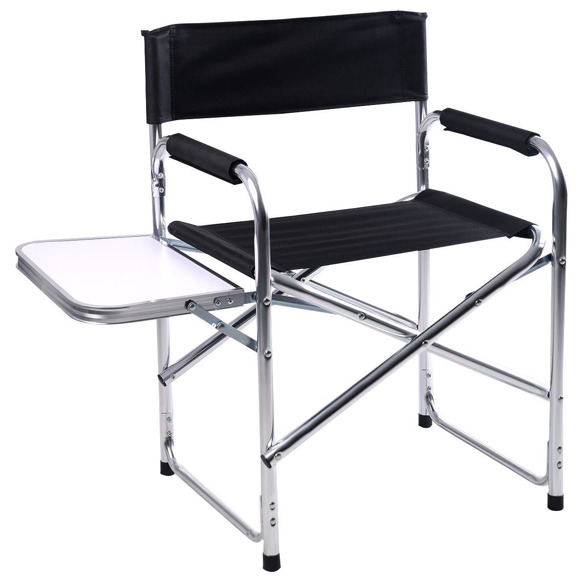 Lotus Analin Aluminum Folding Director's Chair with Side Table Camping Traveling by Lotus Analin