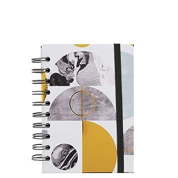 Agenda 2019 A6 con 2 páginas, diseño de círculo geométrico ...