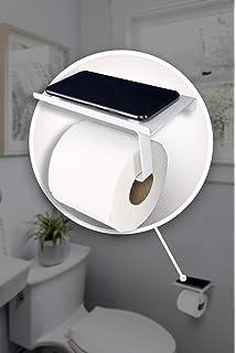 Portarrollos de papel higi/énico reversible con estante para tel/éfono estilo moderno